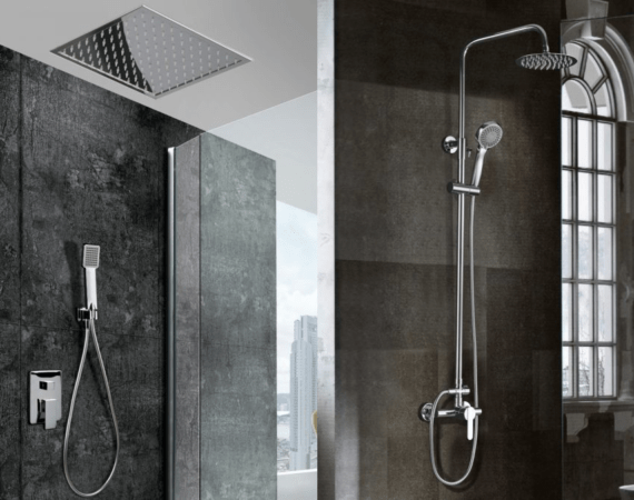 Built-in showers vs conventional showers
