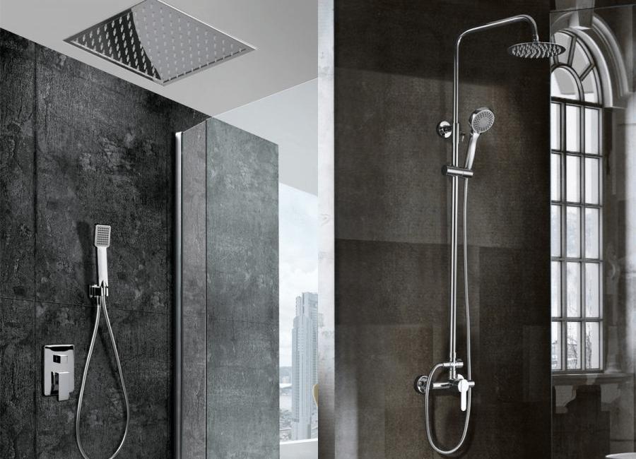 Duchas empotradas vs duchas convencionales