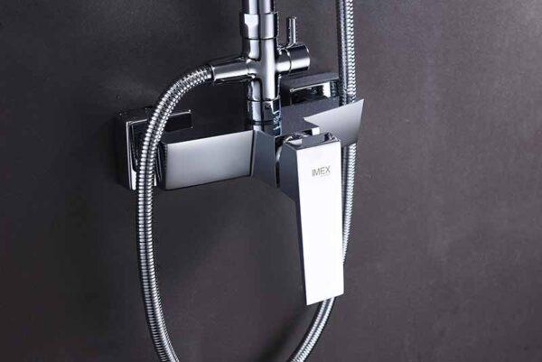 barra de ducha serie art cromado detalle