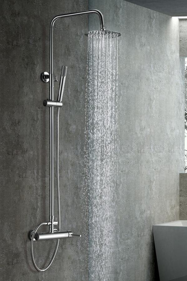 Barra de ducha serie Milan cromado