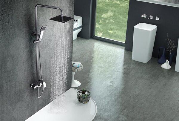 barra de ducha serie saona cromado ambiente