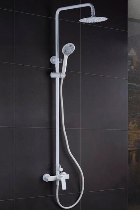 barra de ducha serie Luxor blanco