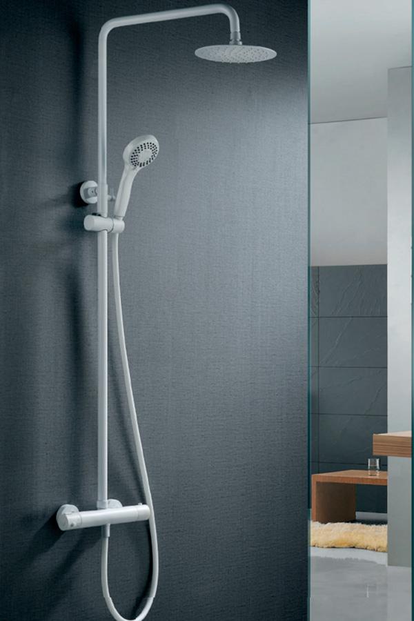Barra de ducha termostática serie Londres blanco