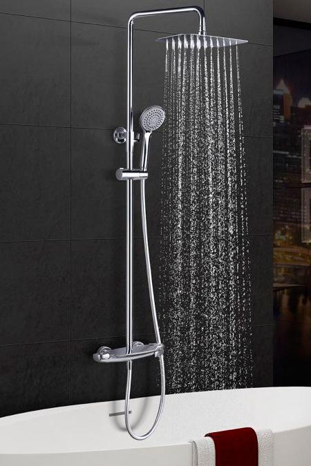 Barra de ducha termostática serie Sidney cromado