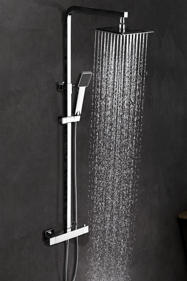 Barra de ducha termostática serie Vigo cromado
