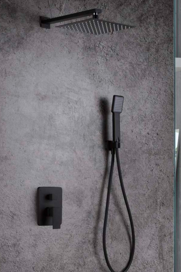 ducha empotrada serie Dublín negro