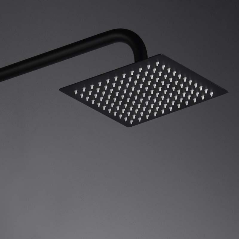 barra de ducha serie art negro detalle