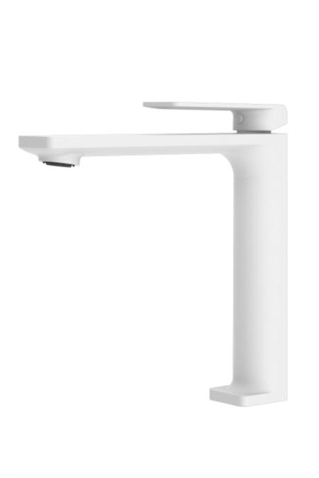 Grifo lavabo alto serie Fiyi blanco