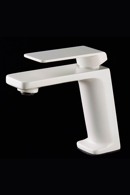 grifo lavabo blanco