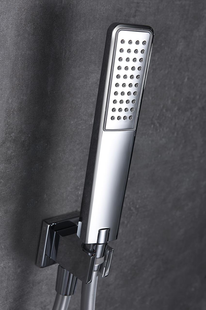 ducha empotrada Suecia cromado detalle