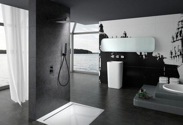 ducha empotrada Suecia negro ambiente