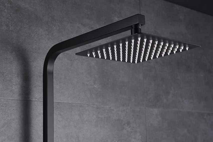 barra de ducha serie Suecia negro detalle