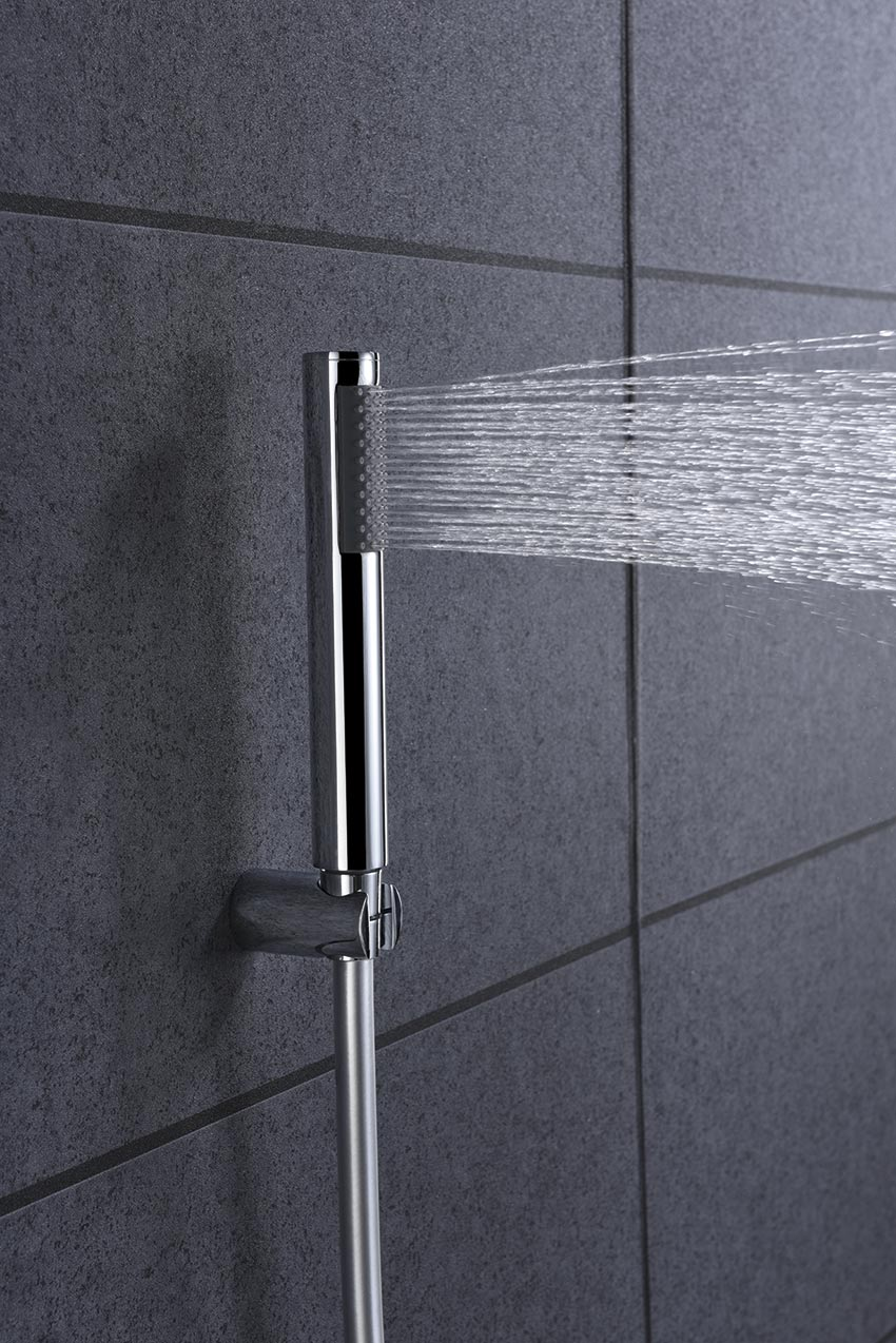 grifo ducha serie olimpo cromado detalle
