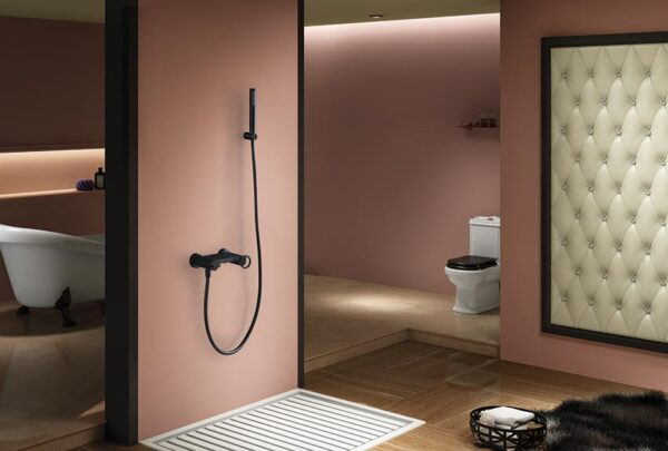 grifo ducha serie olimpo negro ambiente