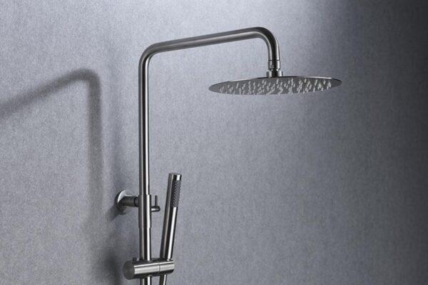 barra de ducha serie Moscú cromado detalle
