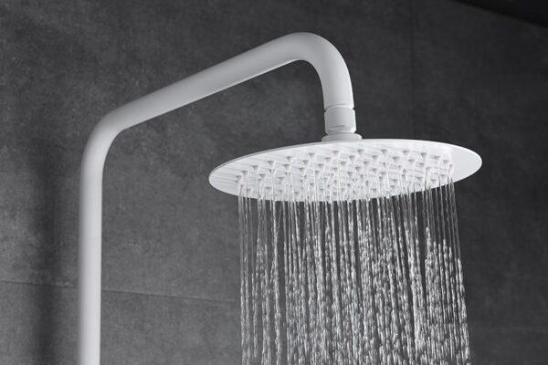 barra de ducha serie Dinamarca blanco detalle