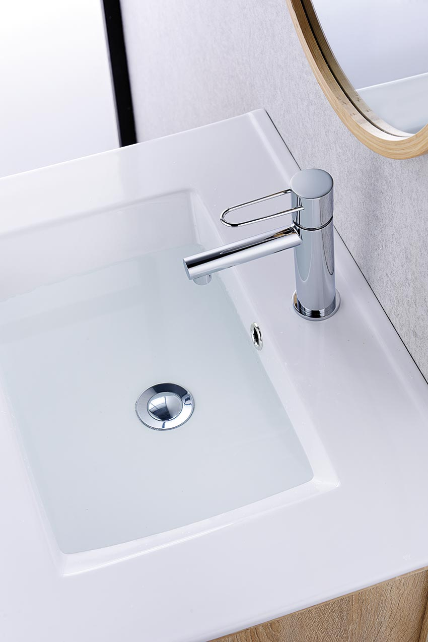 grifo lavabo serie milos cromado ambiente