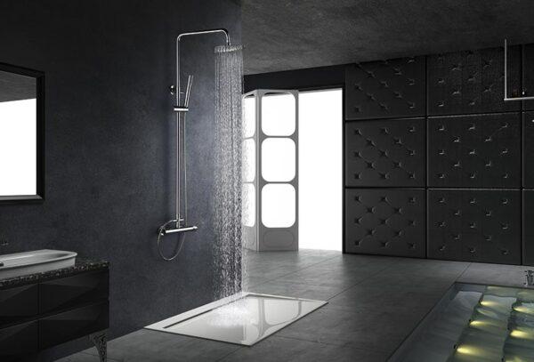 barra de ducha milos cromado ambiente