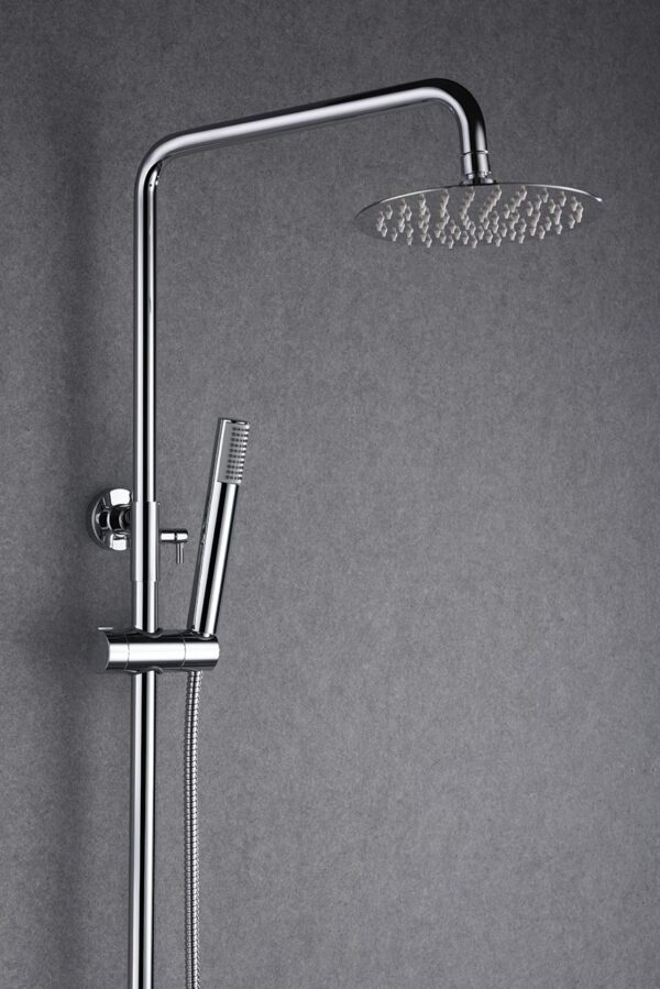 barra de ducha milos cromado detalle