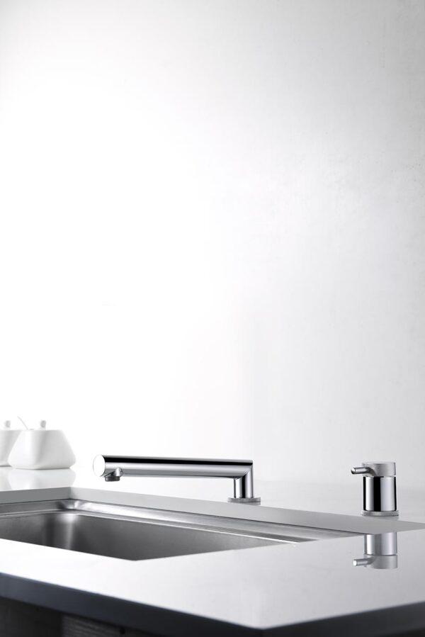 grifo cocina serie itaca cromado plegado