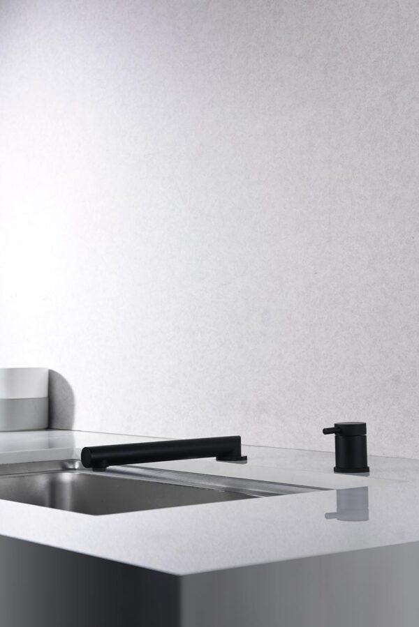 grifo cocina serie itaca negro plegado