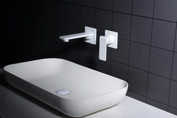 grifo lavabo serie fiyi blanco