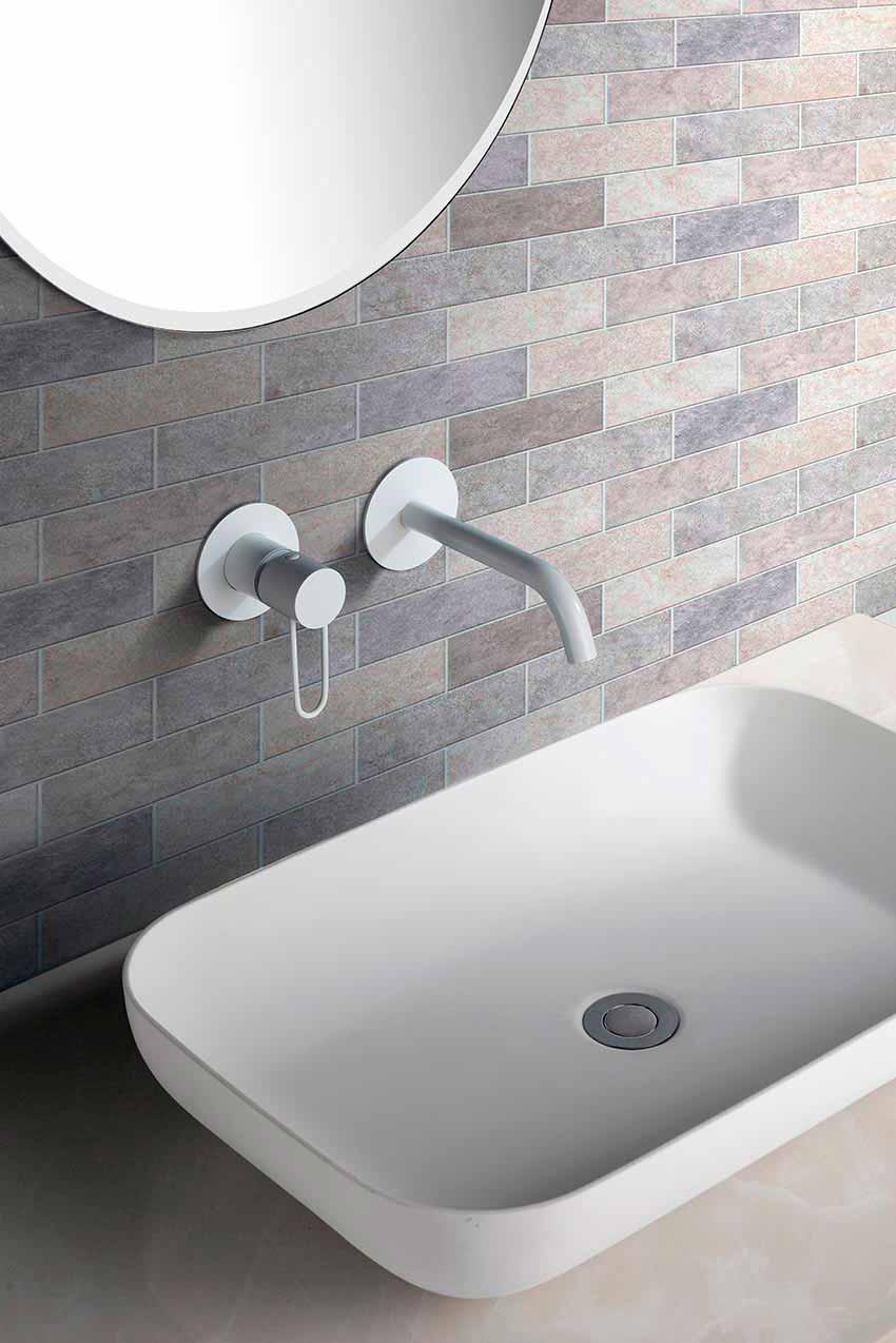 grifo lavabo serie milos blanco ambiente