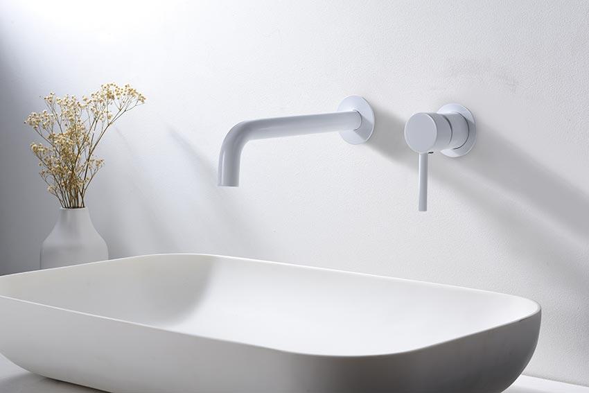 grifo lavabo serie etna blanco ambiente
