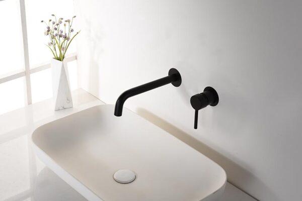 grifo lavabo serie etna negro ambiente