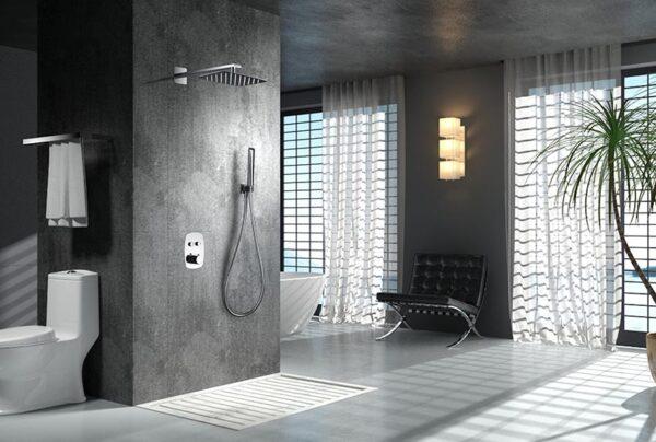 ducha empotrada serie hidra cromado ambiente