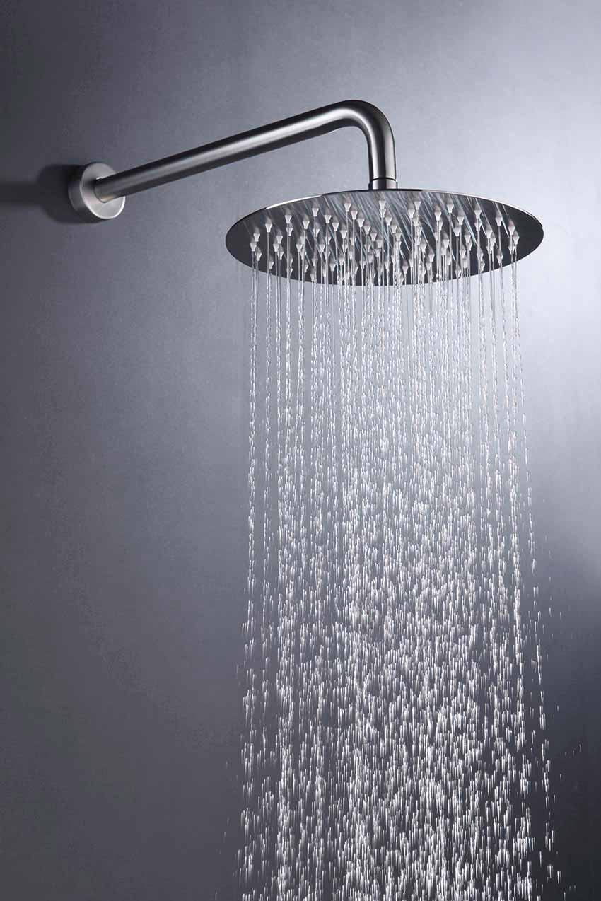 ducha empotrada serie moscu cromado detalle