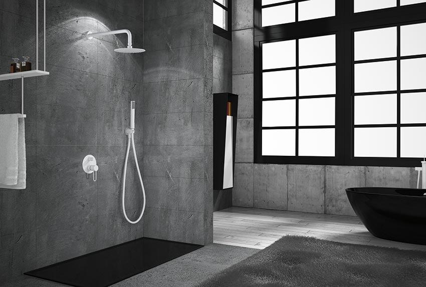 ducha empotrada serie milos blanco ambiente