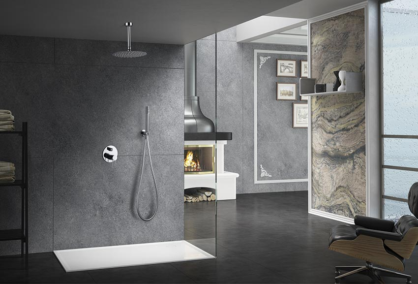 ducha empotrada serie thalos cromado ambiente