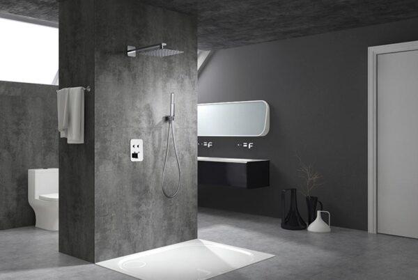 ducha empotrada serie madeira cromado ambiente