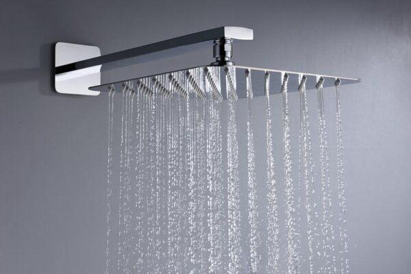 ducha empotrada serie madeira cromado detalle