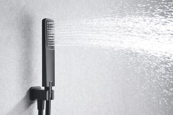 ducha empotrada serie madeira negro detalle