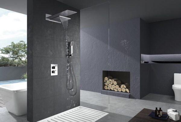 ducha empotrada serie rodas cromado ambiente
