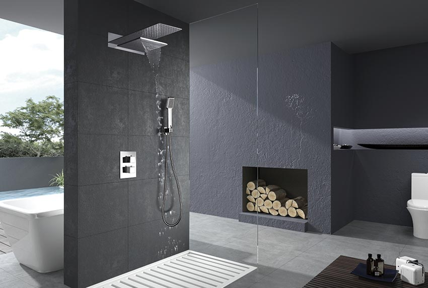 duchas empotradas serie rodas cromado ambiente