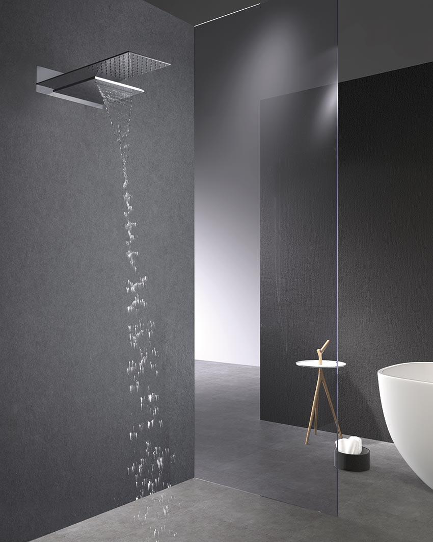 ducha empotrada serie rodas rociador cromado