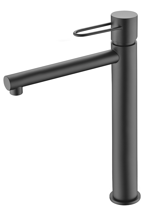 grifo lavabo alto serie Milos negro