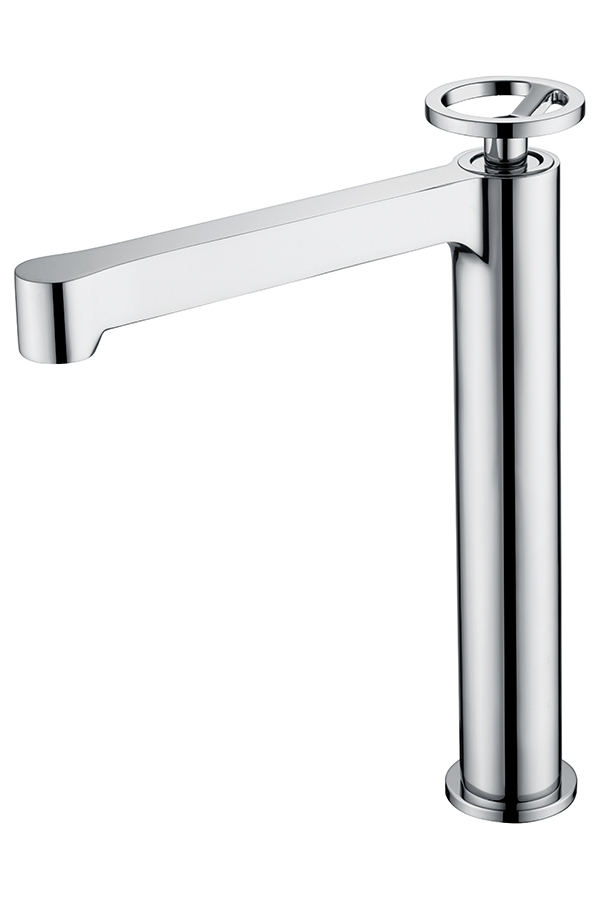 chrome plated olympus high washbasin tap